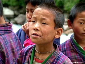 Bhutan portrait boy