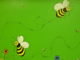 day care library murals- fun design