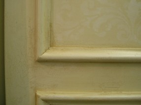 Distressed Crackled Paint Finish by Ellen Leigh on new cabinetry