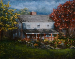 After the Storm 11 x 14 house portraits fine art painting by Ellen Leigh