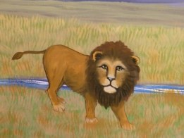 Lion Savannah Nursery mural by Ellen Leigh