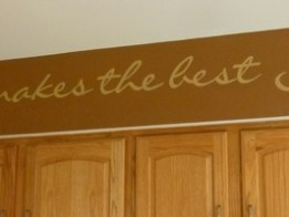 Hand lettered soffit by Ellen Leigh