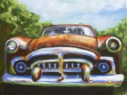 Packard 12 x 12 old cars fine art by Ellen Leigh