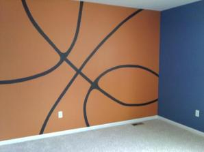Basketball graphic Mural by Ellen Leigh