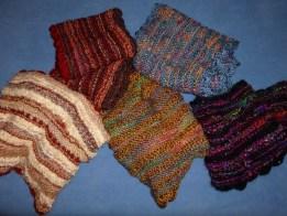 hand knit infinity cowls by artist Ellen Leigh