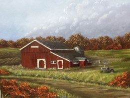 Carpenter Barn 22 x 28 barn painting by Ellen Leigh