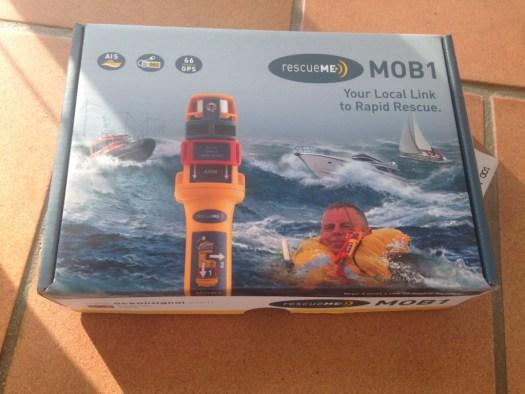 Mob1 från Oceansignal som sänder AIS meddelande och DSC signal
