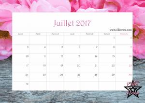 Calendrier 2017 Ellia Rose juillet
