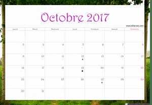 octobre 2017 calendrier ellia rose paysage