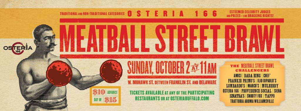 Check Out The Meatball Street Brawl On October 2nd @ Osteria 166