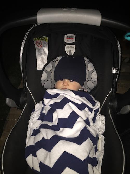 bundled up baby