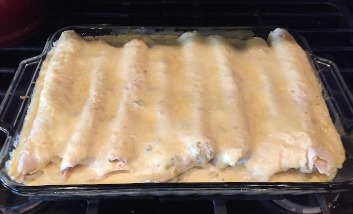 Sour Cream Chicken Enchilada Recipe   Ellie And Addie