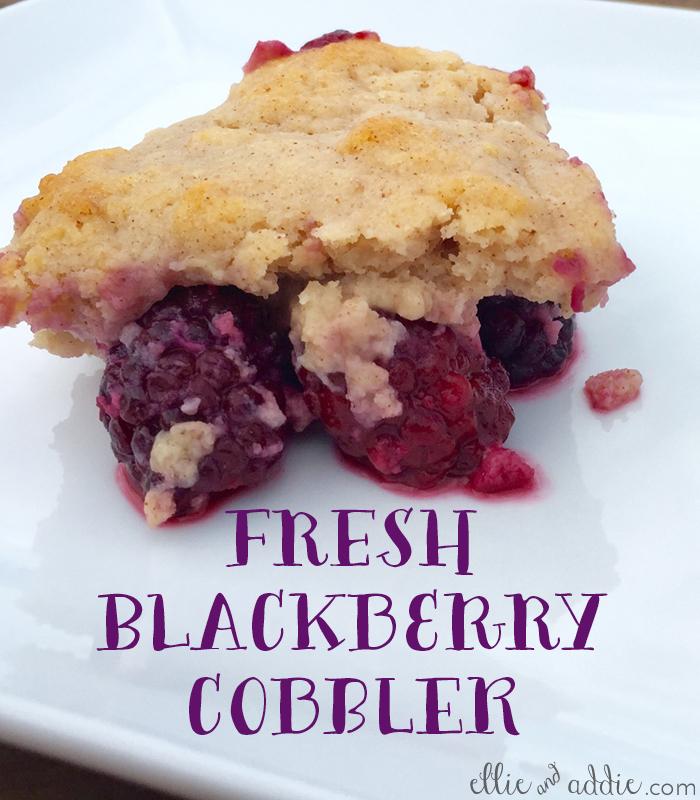 Fresh Blackberry Cobbler   Ellie And Addie