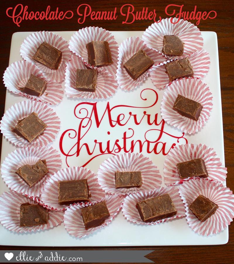 Chocolate Peanut Butter Fudge | Ellie And Addie #SavvySassyHoliday