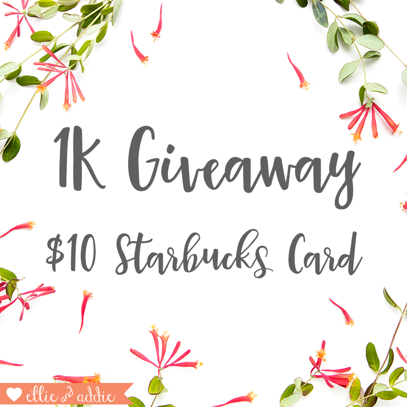 Friday Favorites and a 1K Giveaway! | Ellie And Addie