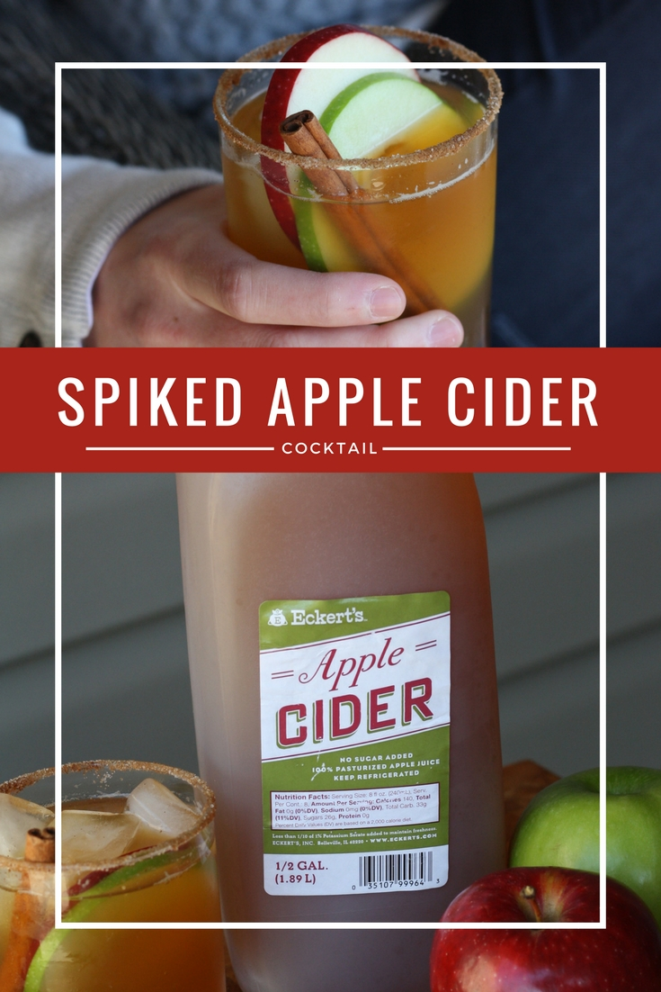 Spiked Apple Cider Cocktail | Ellie And Addie