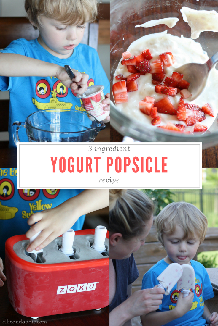 Yogurt Popsicles - An easy popsicle recipe using Happy Family Yogurt | Ellie And Addie