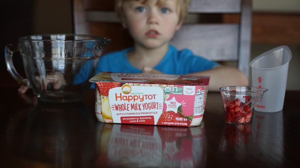 Yogurt Popsicles - An easy popsicle recipe using Happy Family Yogurt | Ellie And Addie