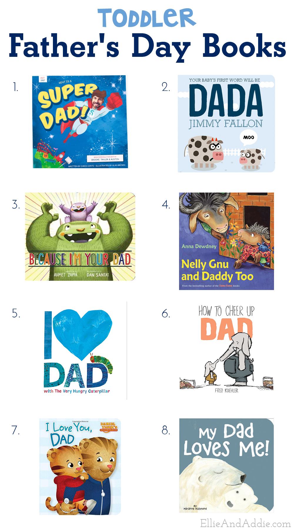Toddler Father's Day Books - All the best books for toddlers to read with their Dad! | Ellie And Addie