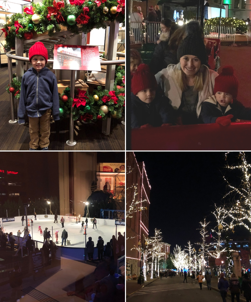 Brewery Lights at Anheuser-Busch St. Louis | A family friendly event to see Christmas lights shared by St. Louis Family and lifestyle blogger Liz from Ellie And Addie