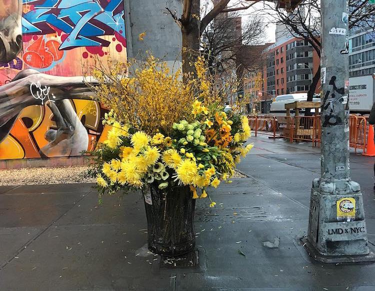 lewis miller flowers trash cans new york