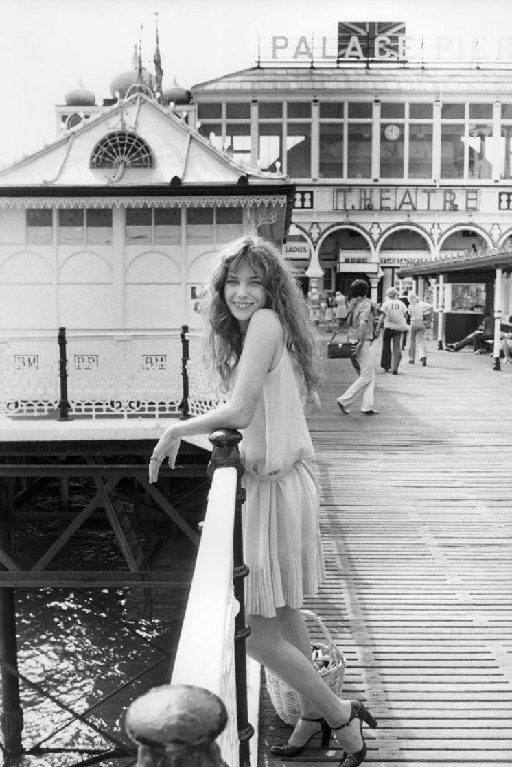 jane birkin brighton pier 1975