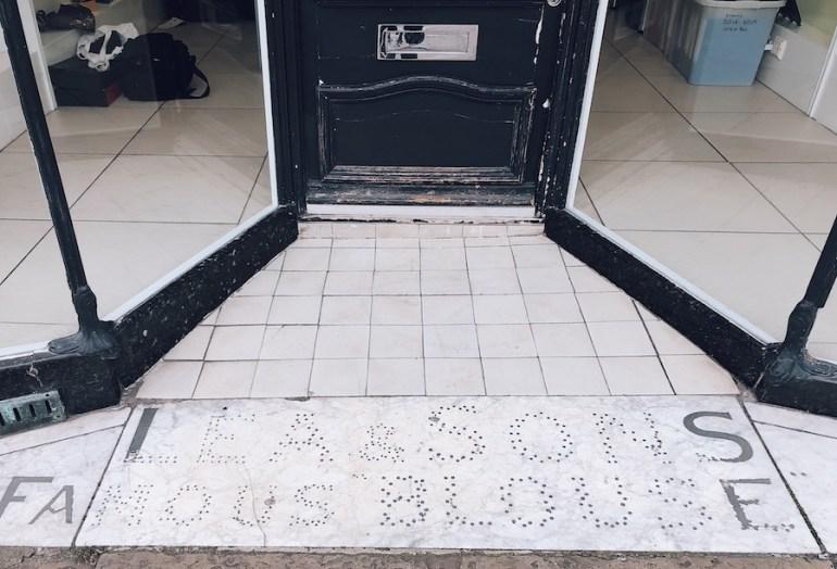 lea & sons vintage shopfront floor entrance mosaic