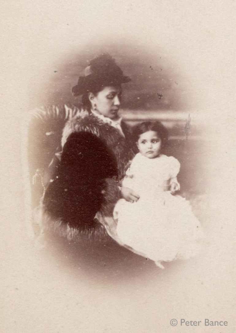 sophia Duleep Singh as a baby with her mother, Maharani Bamba. Via Historic Royal Palaces © Peter Bance