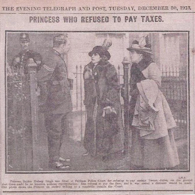 sophia singh headline princess who refused to pay taxes