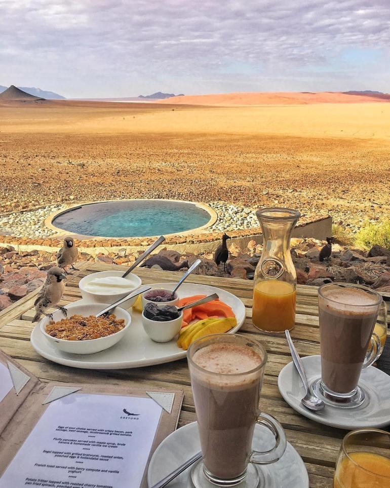 breakfast in namibia