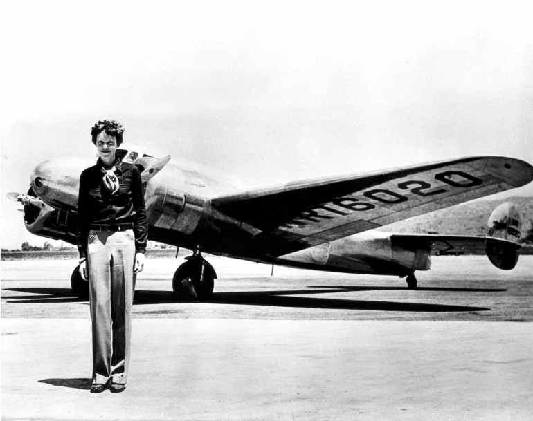 lady by aeroplane