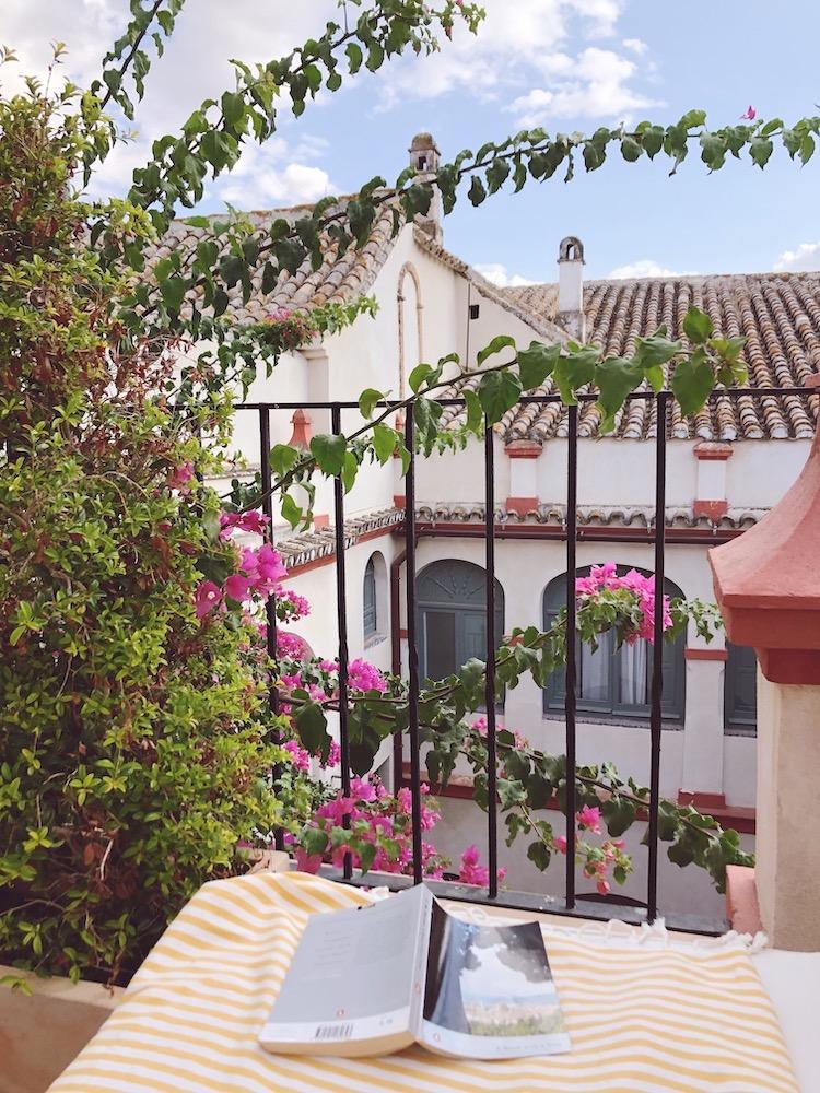 hotel balcony courtyard view