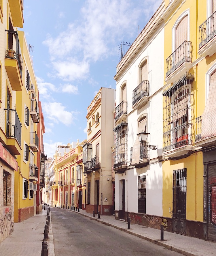 colourful houses seville