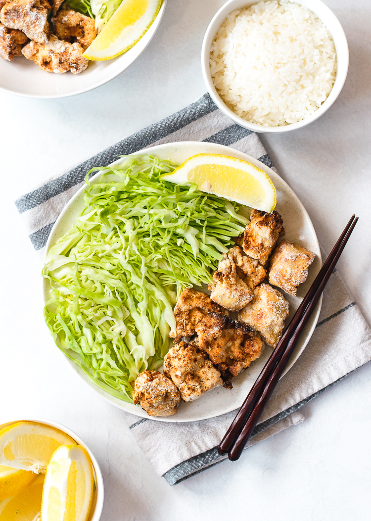 vegan tofu karaage made in the air-fryer