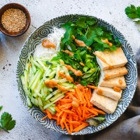 Vermicelli Noodle Salad with Soy-Lime Tofu