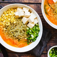 Spicy Veggie Miso Ramen (Vegan, GF, OF)