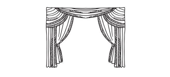 stage curtains illustration