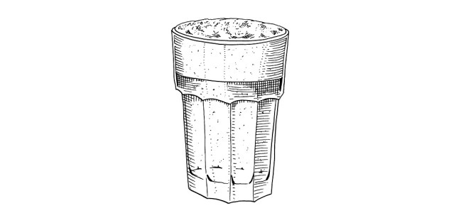 Pint of beer illustration