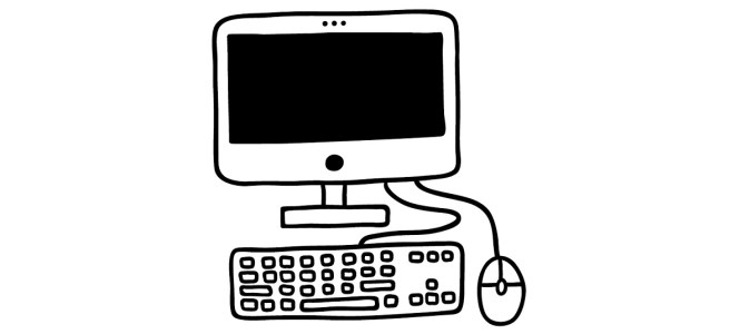 desktop computer illustration