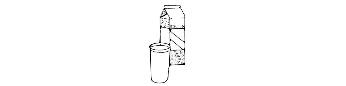 milk carton and glass illustration