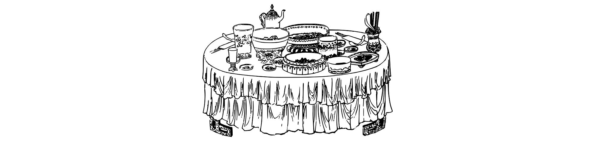 buffet illustration