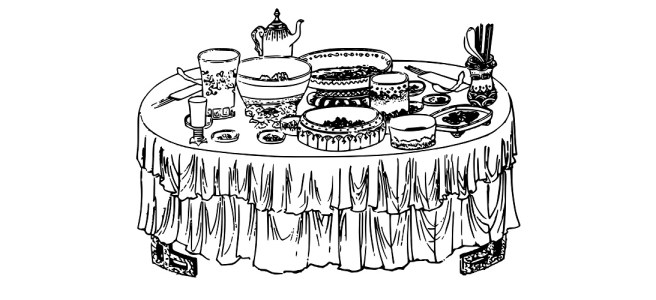 buffet illustration