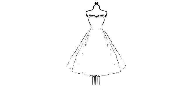"Wedding dress illustration - ""Made for Me"" Flash Fiction"