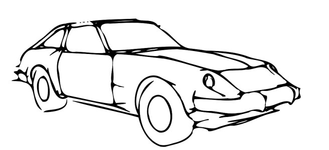 "Sports car illustration - ""Supercar Flash Fiction"""