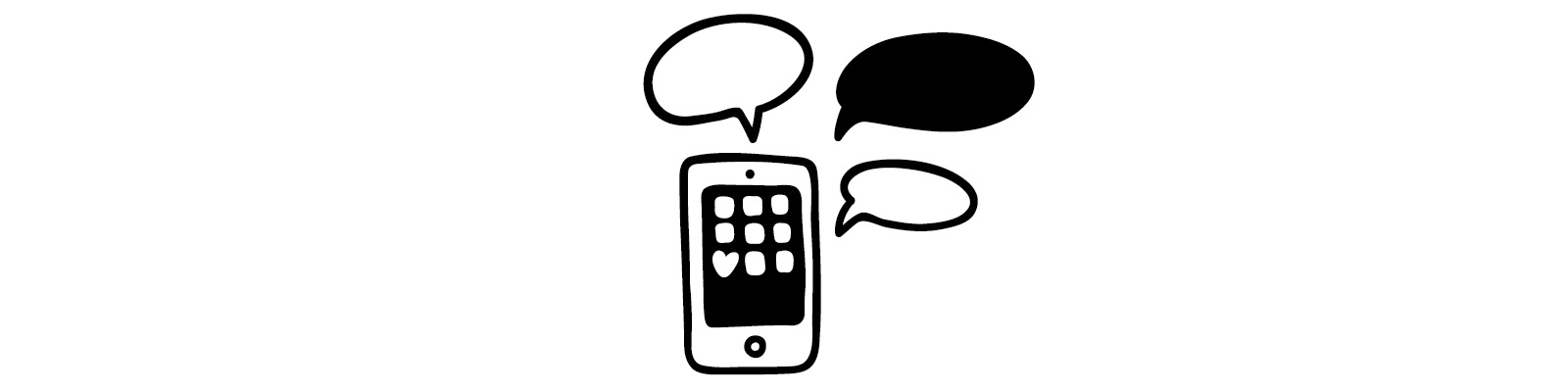 """Phone and speech bubbles illustration - """"This is Why I Suck at Social Media"""" blog"""