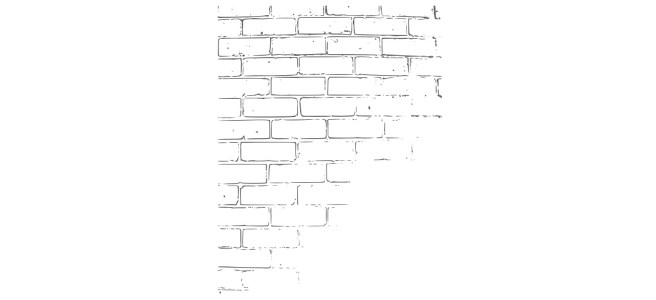 "Brick wall illustration - ""Neighbours"" flash fiction"