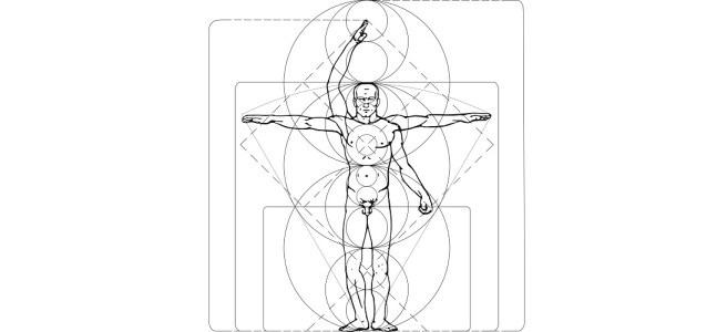 "Man anatomy illustration - ""Decisions"" microfiction"