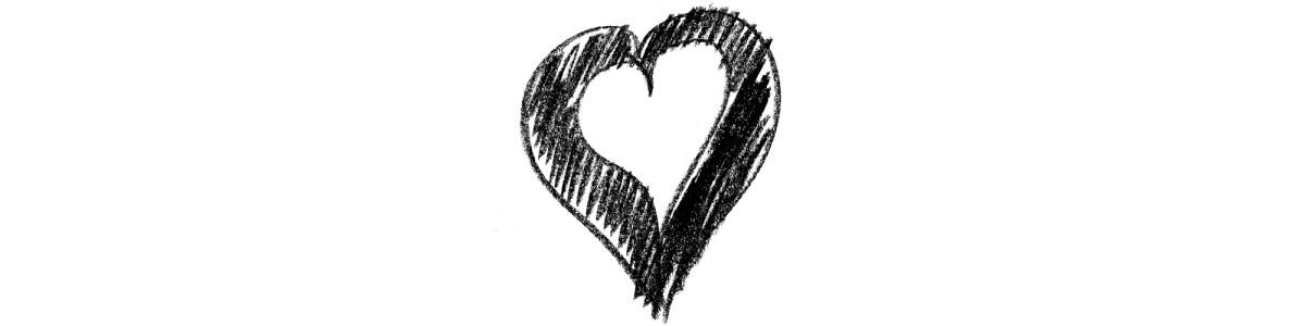 Scribbled heart sketch
