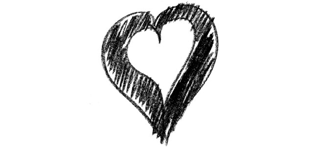 Scribbled heart sketch