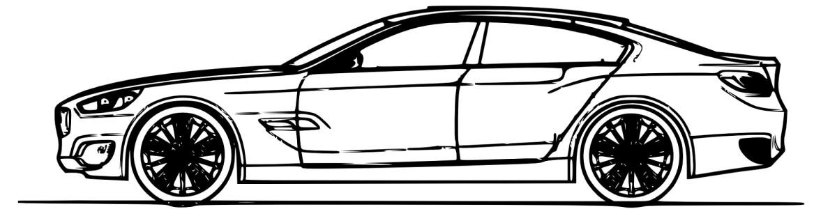 "Car illustration - ""Race"" flash fiction"